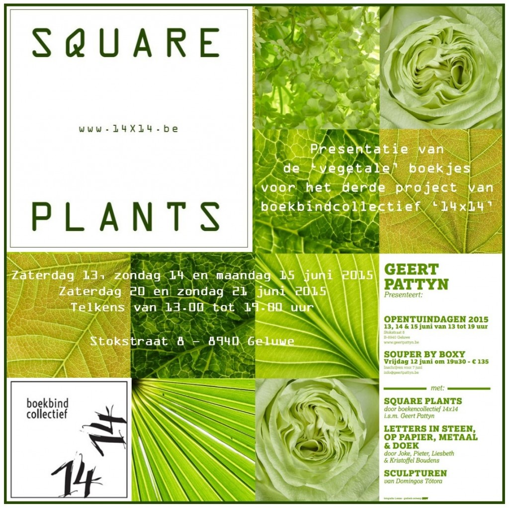 uitnodiging Square Plants